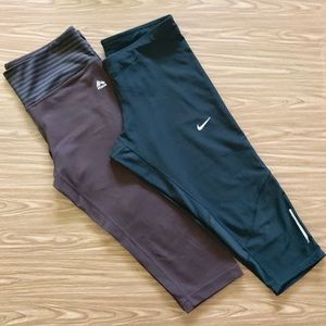 Pair of Nike & RBX active workout pants